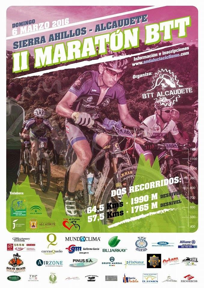cartel maraton bicis alcaudete