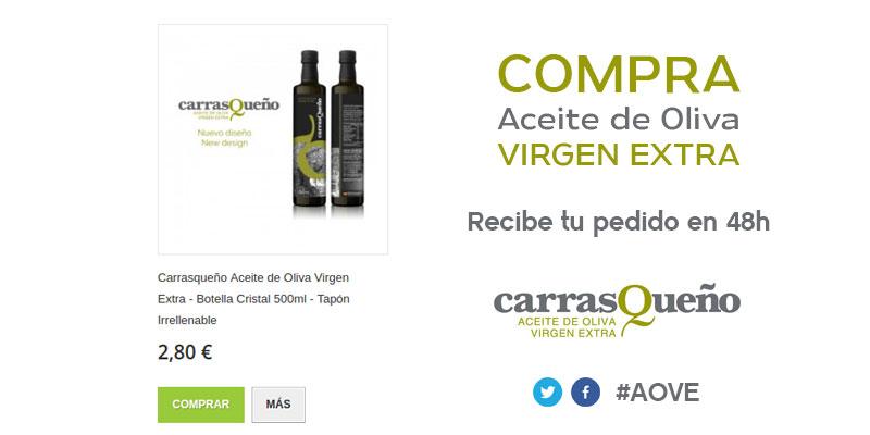 Carrasqueño Aceite de Oliva Virgen Extra – Botella Cristal 500ml – Tapón Irrellenable #AOVE