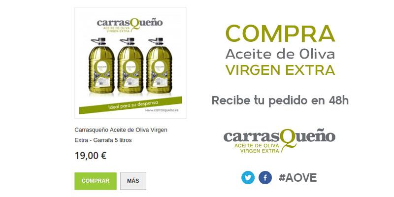 Carrasqueño Aceite de Oliva Virgen Extra – Garrafa 5 litros #AOVE