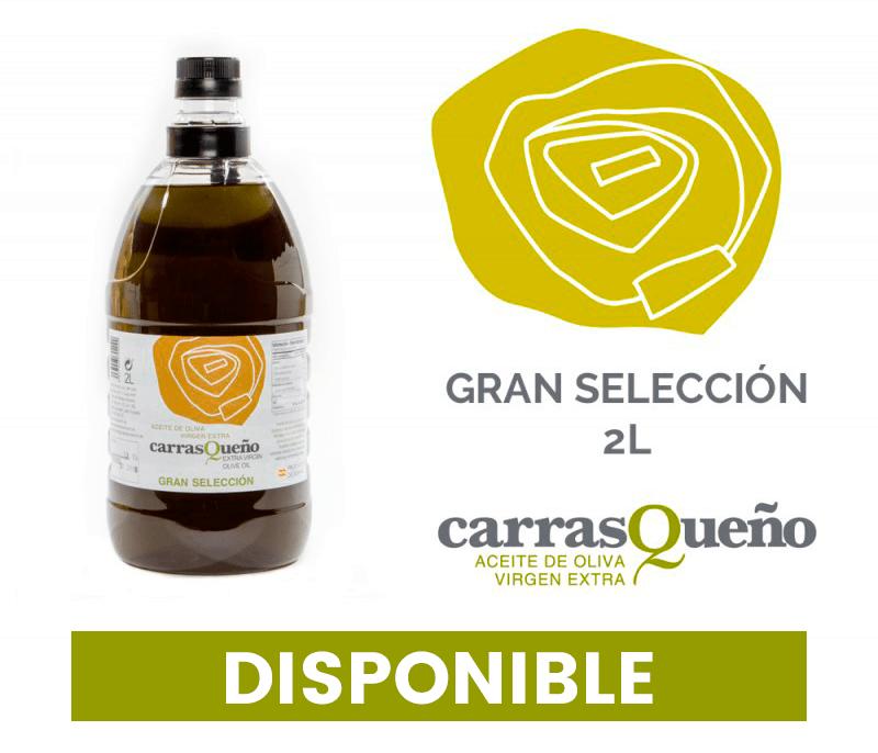 AOVE Carraqueño Gran Selección disponible en formato de 2 litros.
