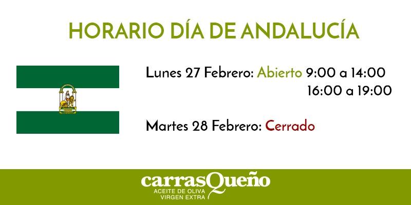 Horario Día de Andalucía