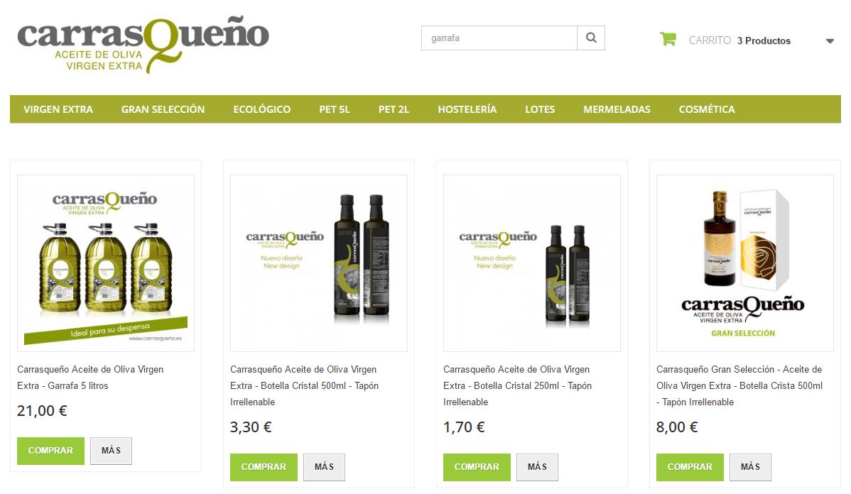 Tienda de Aceite de Oliva. Realizas tu pedido y lo recibes en casa en 48h. Así de fácil. http://carrasqueño.es/tienda