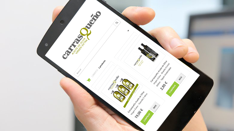 Tus pedidos de aceite de oliva ahora desde tu teléfono móvil… http://carrasqueno.es/tienda/