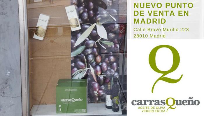 Nuevo punto de venta de AOVE Carrasqueño en MADRID